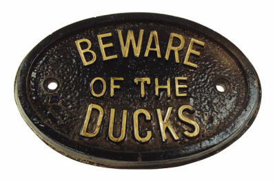 Placa - Beware of the Ducks