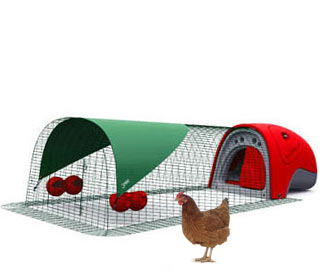 Red Eglu Classic Chicken Coop with 2m Run